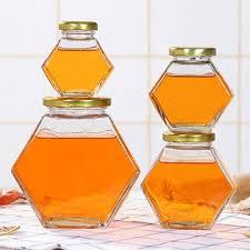 جار شیشه ای شش گوش عسل