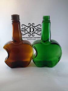 بطری شیشه ای دو لیتری رنگی