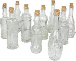 بطری شیشه ای بزرگ با درب چوب پنبه