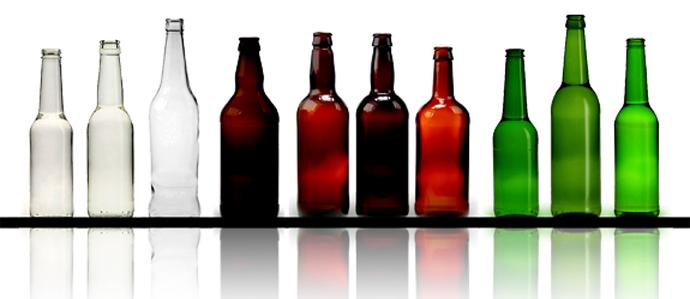 خرید اینترنتی بطری شیشه ای رنگی
