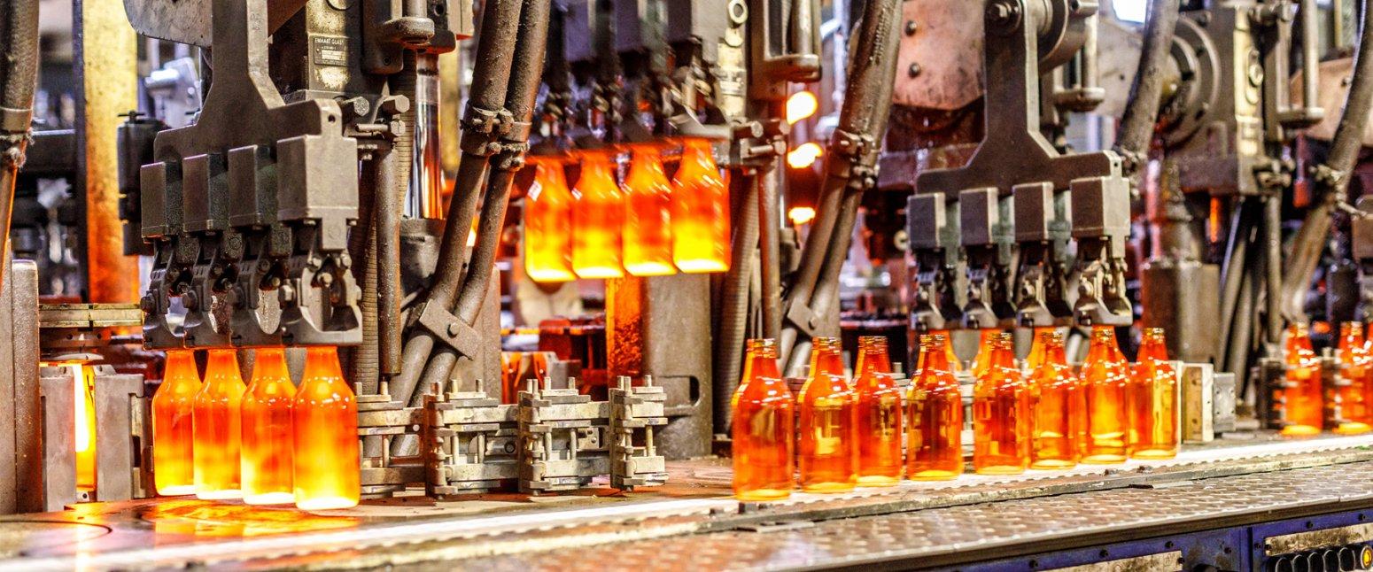 تولید بطری شیشه ای نیم لیتری